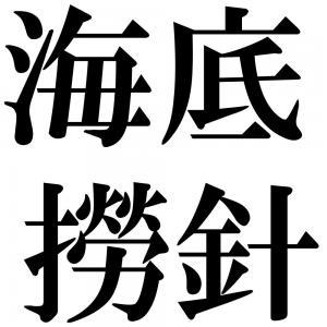 海底撈針の四字熟語-壁紙/画像