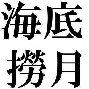 海底撈月の四字熟語-壁紙/画像