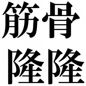 筋骨隆隆の四字熟語-壁紙/画像