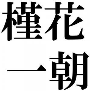 槿花一朝の四字熟語-壁紙/画像