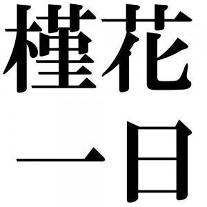 槿花一日の四字熟語-壁紙/画像