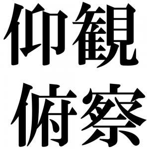 仰観俯察の四字熟語-壁紙/画像