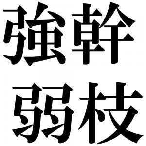 強幹弱枝の四字熟語-壁紙/画像