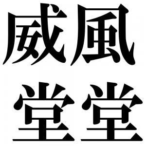 威風堂堂の四字熟語-壁紙/画像
