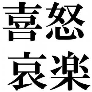 喜怒哀楽の四字熟語-壁紙/画像