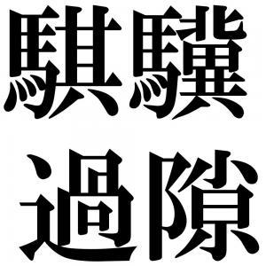 騏驥過隙の四字熟語-壁紙/画像