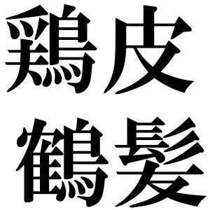 鶏皮鶴髪の四字熟語-壁紙/画像