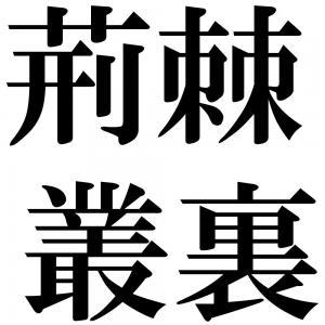 荊棘叢裏の四字熟語-壁紙/画像