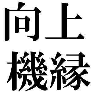向上機縁の四字熟語-壁紙/画像
