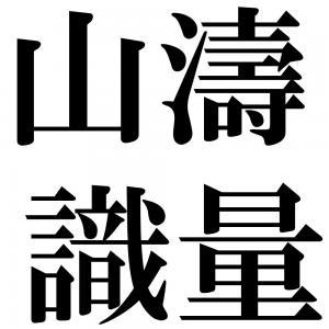 山濤識量の四字熟語-壁紙/画像