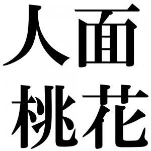 人面桃花の四字熟語-壁紙/画像