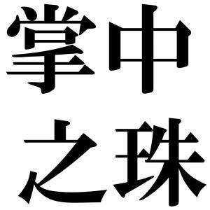 掌中之珠の四字熟語-壁紙/画像