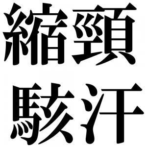 縮頸駭汗の四字熟語-壁紙/画像