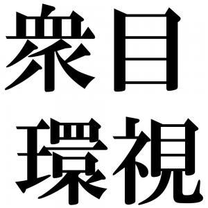 衆目環視の四字熟語-壁紙/画像