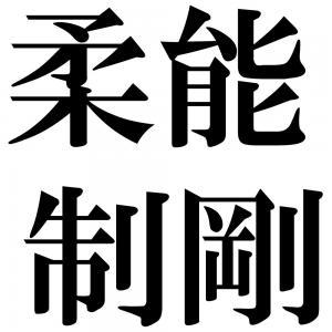 柔能制剛の四字熟語-壁紙/画像