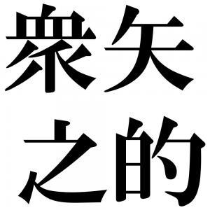 衆矢之的の四字熟語-壁紙/画像