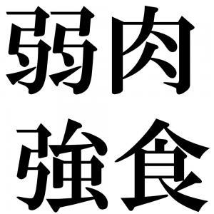 弱肉強食の四字熟語-壁紙/画像
