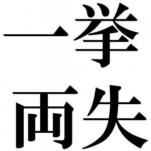 一挙両失の四字熟語-壁紙/画像