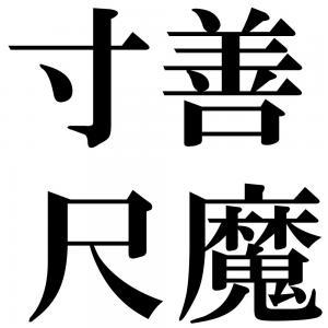寸善尺魔の四字熟語-壁紙/画像