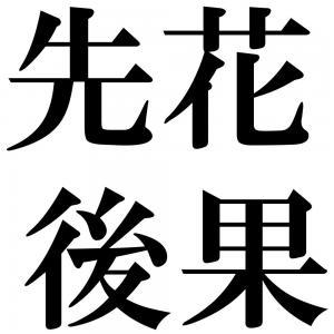 先花後果の四字熟語-壁紙/画像