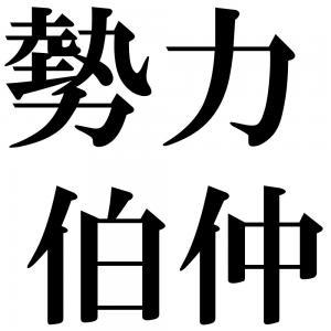 勢力伯仲の四字熟語-壁紙/画像