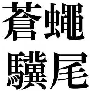 蒼蠅驥尾の四字熟語-壁紙/画像