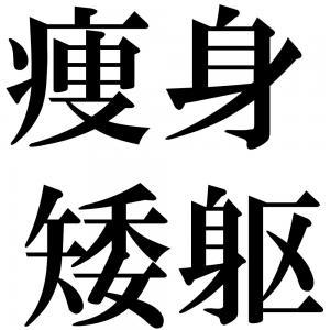 痩身矮躯の四字熟語-壁紙/画像