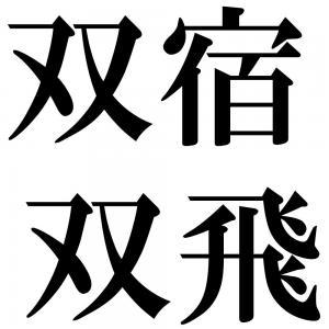 双宿双飛の四字熟語-壁紙/画像