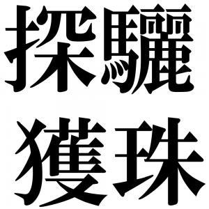 探驪獲珠の四字熟語-壁紙/画像