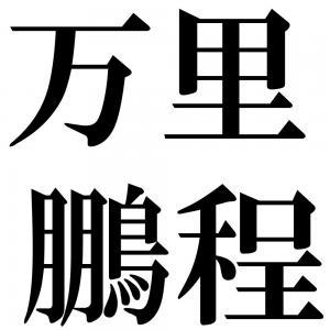 万里鵬程の四字熟語-壁紙/画像