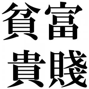 貧富貴賤の四字熟語-壁紙/画像
