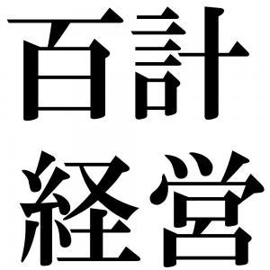 百計経営の四字熟語-壁紙/画像