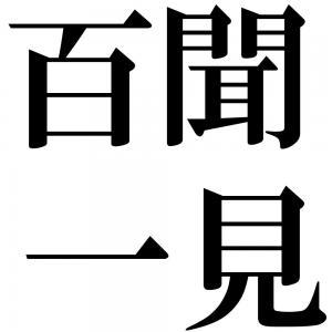 百聞一見の四字熟語-壁紙/画像