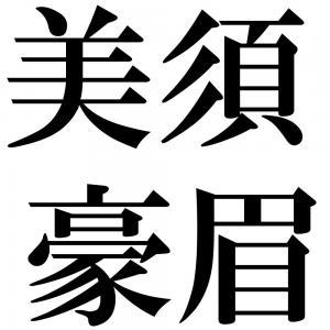 美須豪眉の四字熟語-壁紙/画像