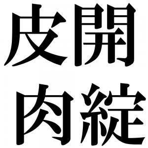 皮開肉綻の四字熟語-壁紙/画像