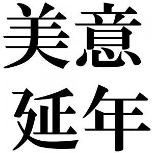 美意延年の四字熟語-壁紙/画像