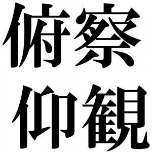 俯察仰観の四字熟語-壁紙/画像