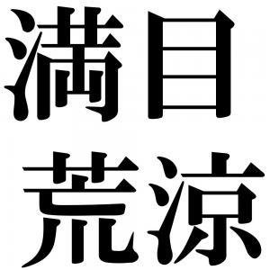 満目荒涼の四字熟語-壁紙/画像