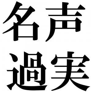 名声過実の四字熟語-壁紙/画像