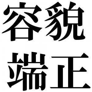 容貌端正の四字熟語-壁紙/画像