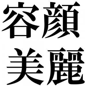 容顔美麗の四字熟語-壁紙/画像