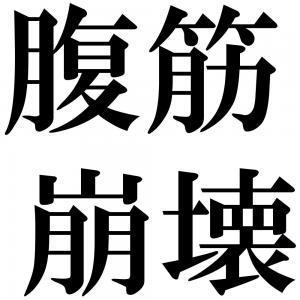 腹筋崩壊の四字熟語-壁紙/画像