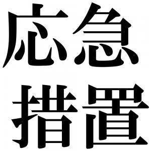 応急措置の四字熟語-壁紙/画像
