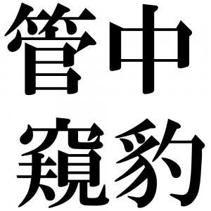 管中窺豹の四字熟語-壁紙/画像