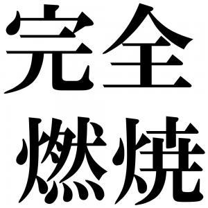 完全燃焼の四字熟語-壁紙/画像