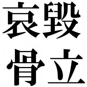 哀毀骨立の四字熟語-壁紙/画像